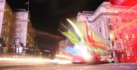 Double Decker Buses in Piccadilly Circus, London
