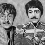 """Sgt. Peppers Black and White"" by lotuspetals"
