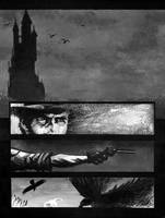 The Dark Tower black and white