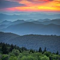 """Blue Ridge Parkway Sunset - The Great Blue Yonder"" by DAPhoto"