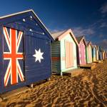 """Brighton Beach Huts"" by DTStudios"