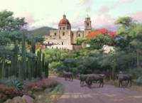 Mexican Town on a Hill