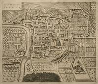 Map of Trento from Les Villes de Venetie