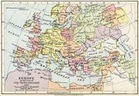 Map of Europe at the time of the Third Crusade