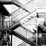"""Zig Zagging Metal Staircase"" by Amberwatsonwilliams"