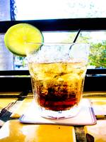 Rum and Coke with a Slice of Lime