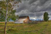 Storm Clouds over Moulton Barn
