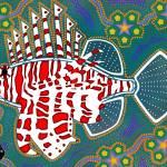 """Aboriginal Art ""Lion Fish"""" by KenKendallDesign"