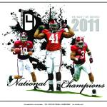 """Alabama Crimson Tide / 2011 BCS National Champions"" by berreyart"