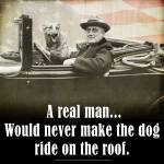 """A REAL man -- FDR and his dog"" by rchristophervest"