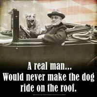 A REAL man -- FDR and his dog