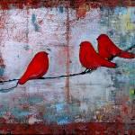 """Let it Be Red Birds"" by BlendaStudio"