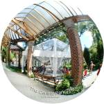 """NYC CENTRAL PARK ZOO Tent and brick arbor fisheye"" by apanoramicview"