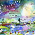 """New Birth Mother Earth Watercolor Ginette"" by GinetteCallaway"