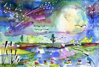 New Birth Mother Earth Watercolor Ginette