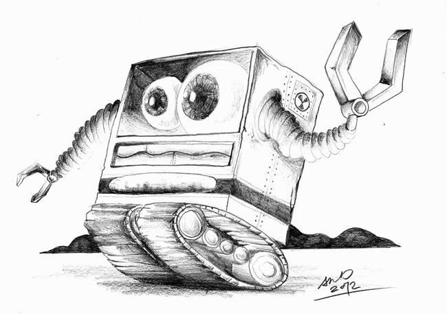 Robot  Pencil Draw...