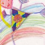"""""""Abstract Triangle Girl Rainbow Surrealism"""" by 4FootNinja"""