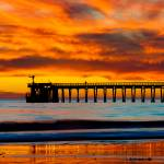 """Bacara (Haskell's ) Beach and pier, Santa Barbara"" by eyalna"