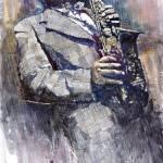 """Jazz Saxophonist Charlie Parker"" by shevchukart"