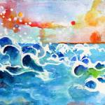 """Evening Tide Watercolor by Ginette"" by GinetteCallaway"