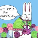 """Knitting For Carrots"" by SusanFaye"