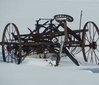 Frozen farm equipment