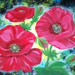 """""""3 Poppy flowers"""" by elajanus"""