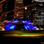"""Jay Pritzker Pavilion Blue-Purple"" by RichardJZentner"