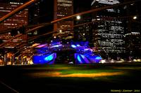 Jay Pritzker Pavilion Blue-Purple