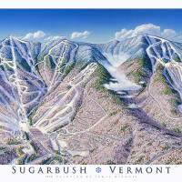 """Sugarbush Vermont"" by jamesniehuesmaps"
