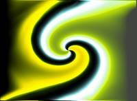 Yellow Green Swirl