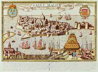 View of the port and fortified city of Saint Malo