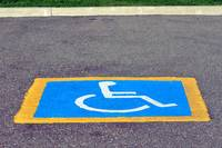 Handicapped reserved parking.
