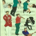 """""""musiconmusiconcanvas"""" by ARTCREATIONSBYOLGA"""