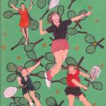 """Copy of TENNIS GIRLS BACGROUND RACQUETS"" by ARTCREATIONSBYOLGA"