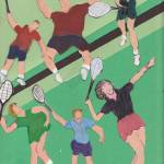 """Copy of tennis people on the court"" by ARTCREATIONSBYOLGA"