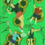 """TENNIS PEOPLE ON BALLS AND RACQUETS"" by ARTCREATIONSBYOLGA"