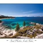 """Sand Harbor, Lake Tahoe on White"" by markeloperphotography"