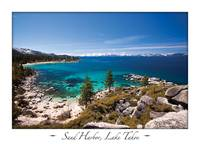 Sand Harbor, Lake Tahoe on White