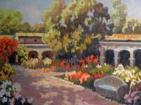Plein Air Mission Oil Painting