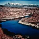 """Lake Powell and the Henry Mountains"" by dennisherzog"