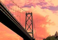 Vancouver Bridge and Golden Sky