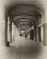 Arches and Walkway in Venice