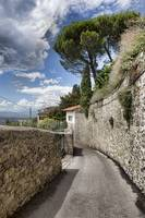 Winding Road in Fiesole, Italy