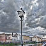"""Lamp Post in Florence Italy with Storm Clouds"" by lillisphotography"