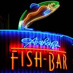 """Fish Bar Neon Sign"" by raetucker"