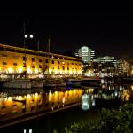 """St katherines Dock london night view"" by DavidHornchurch"