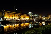 St katherines Dock london night view