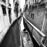 """Venice Canal in Black and White"" by lillisphotography"