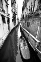 Venice Canal in Black and White